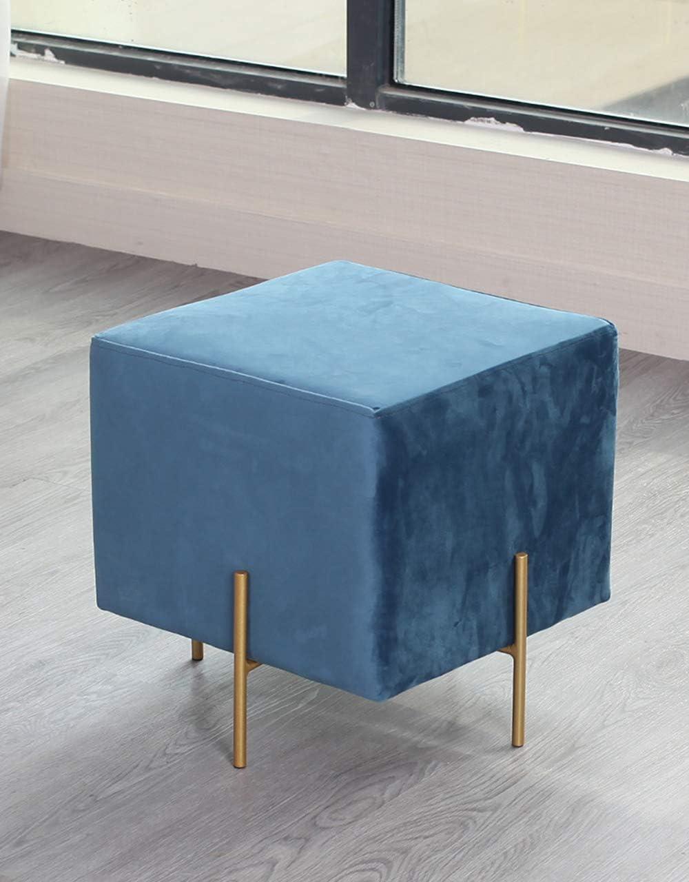 オスマン帝国のソファーの腰掛け、正方形のプーフの腰掛けの残りの座席ソファーの座席の腰掛けの変更の靴の腰掛けによって装飾される椅子、5色 sea blue
