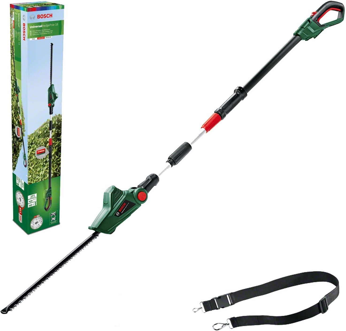 Bosch Home and Garden UniversalHedgePole 18 Tijeras cortasetos telescópicas a batería, sin batería, sistema de 18V, en caja