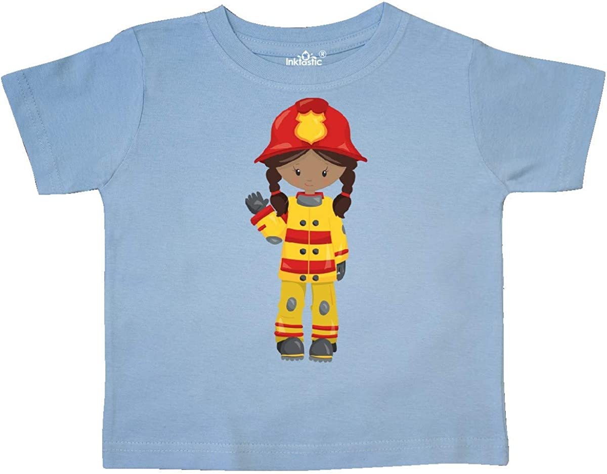 inktastic African American Girl Girl Fireman Firefighter Toddler T-Shirt