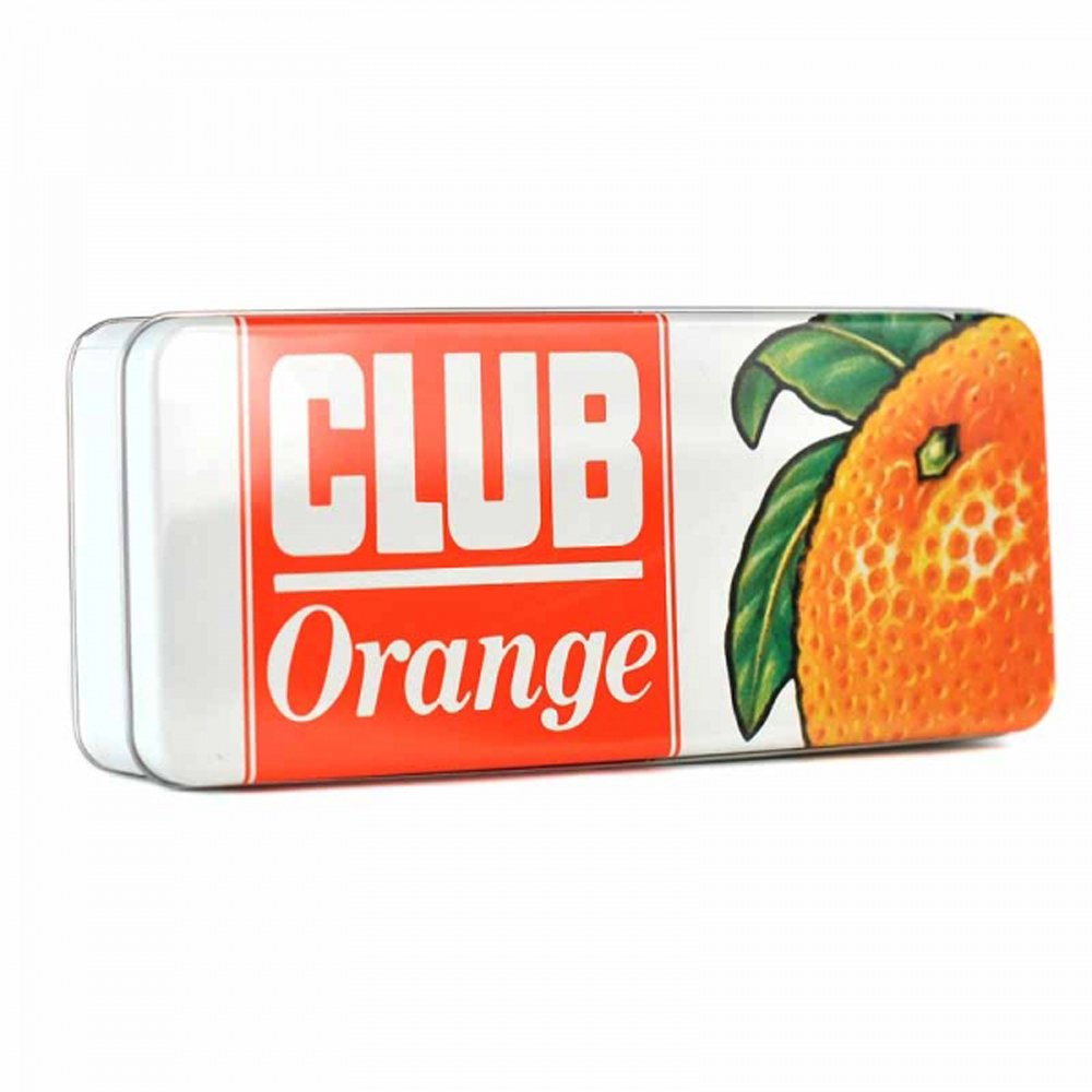 Jacob's Club Orange Biscuit Storage Tin Half Moon Bay