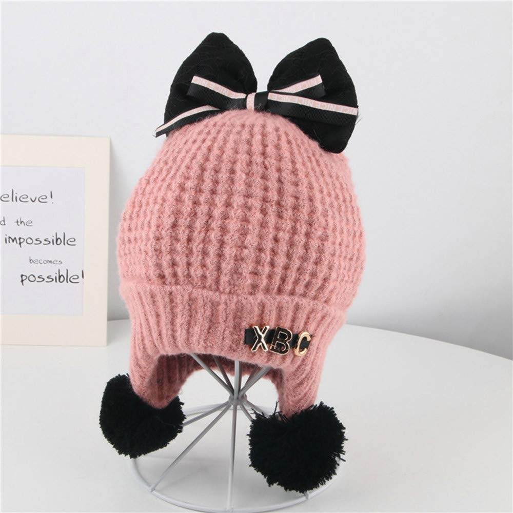 fd7f99a1617 Amazon.com   Baby Boy Winter Warm Knitted Earflap Hat Clearance Sale -  Iuhan Toddler Girl Boy Baby Bowknot Crochet Knit Hat Beanie Hairball  Earflap Cap ...