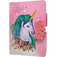 Unicornio Cuaderno,Cuaderno de niñas Diario con Candado de Corazón,Cuaderno de Arcoíris Cuaderno de Bricolaje Cuaderno…