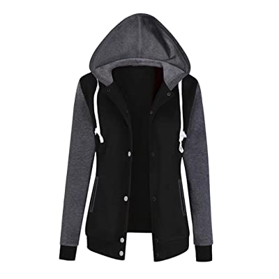 LONUPAZZ Sweat-Shirt à Capuche Femme Sport Fashion Casual Veste Manche  Longue Chemisier 2cf19cec022