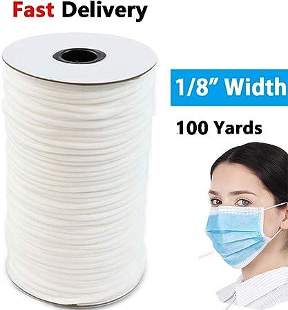 Amazon Com Elastic Band 100 Yards 1 8 White Elastic Cord For Diy