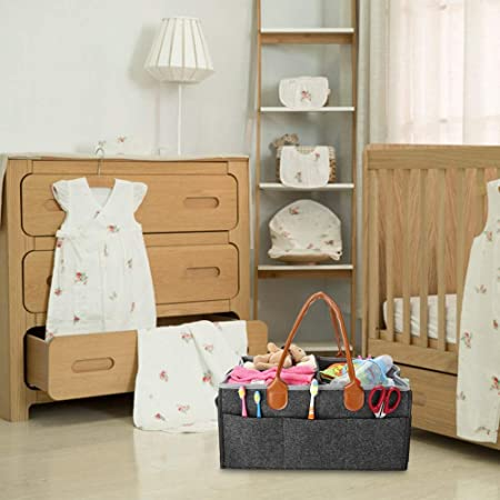 Organizador plegable multifuncional - Herramientas de peluquería Almacenamiento de pañales para bebés, Papel para toallitas húmedas, Canasta para juguetes, cestas portátiles para guardar