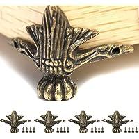Reposapi/éS-Plata/_10Cm Sof/áS Pies De Muebles De Metal Triangulares Contempor/áNeos De 4 Piezas Reemplazables Para Gabinetes applemi Patas De Muebles Sillones