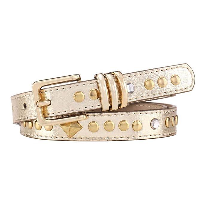 vasta selezione grande sconto più colori Betrothales Cintura Donna Elegante Rivetto Dorato Chic Casual ...