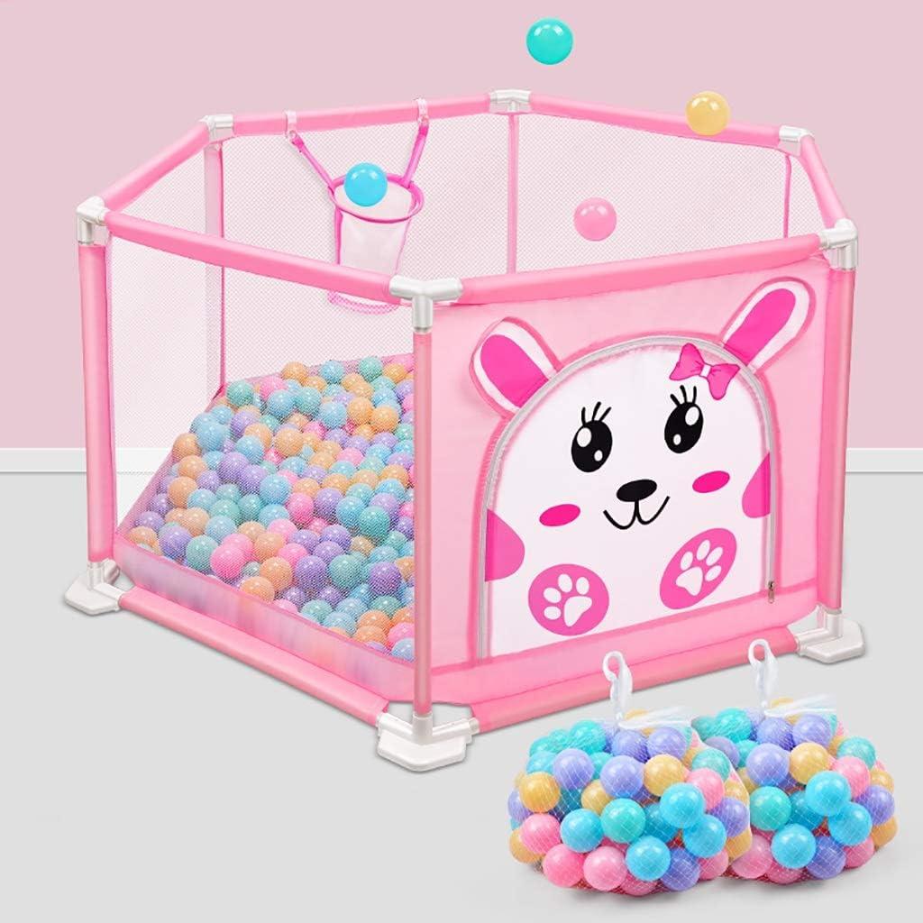 赤ちゃんフェンス子供の遊び場室内赤ちゃんクロール幼児フェンスの家の安全フェンスの子供の遊び場 (色 : Pink, サイズ さいず : 205 pcs ball)