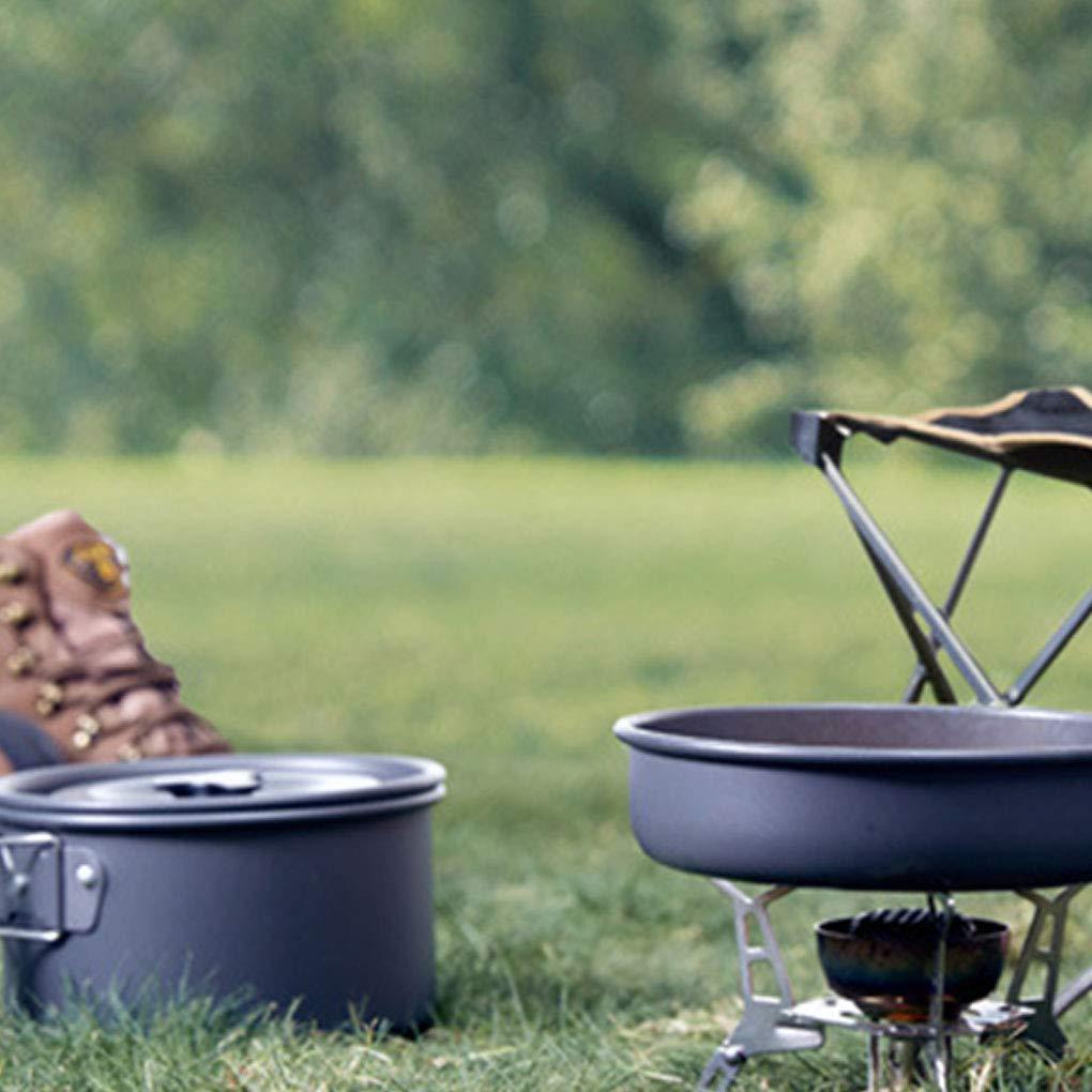 Fornateu Duradera Camping Kit de Utensilios de Cocina al Aire Libre Mess Mochilero port/átil Pot Cuencos Conjunto para la Actividad Salvaje