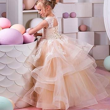 bfde3d47b Vestidos de fiesta para niños pequeños Vestido de boda de los niños Brote  Pantalla de seda