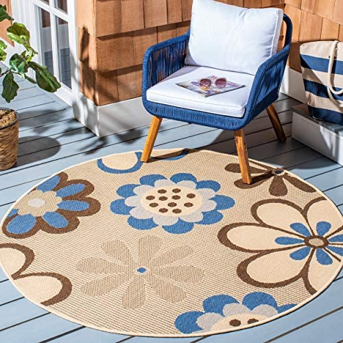Safavieh Courtyard Collection CY4035A Natural Brown and Olive Indoor Outdoor Area Rug 2 x 3 7