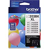 Brother Genuine High Yield Black Ink Cartridge, LC203BK, Replacement Black Ink, Page Yield Up To 550 Pages, Amazon Dash Reple