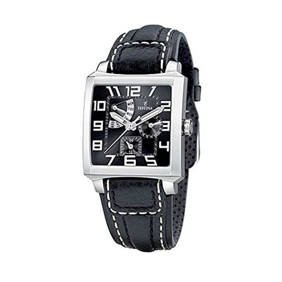 FESTINA F16282/5 - Reloj unisex de cuarzo, correa de piel color negro: Festina: Amazon.es: Relojes