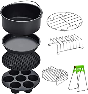 Air Fryer Accessories 8 Pcs Kits with Skewers Silicone Mat 7