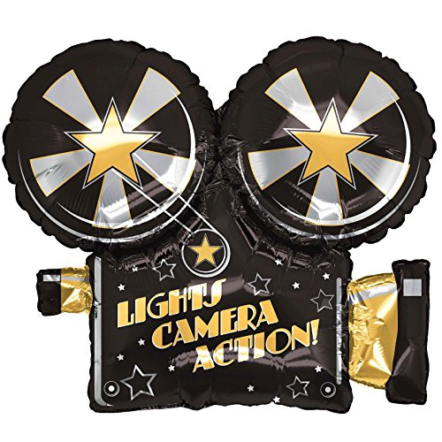 "Price comparison product image Lights, Camera, Action 32"" Foil Balloon"
