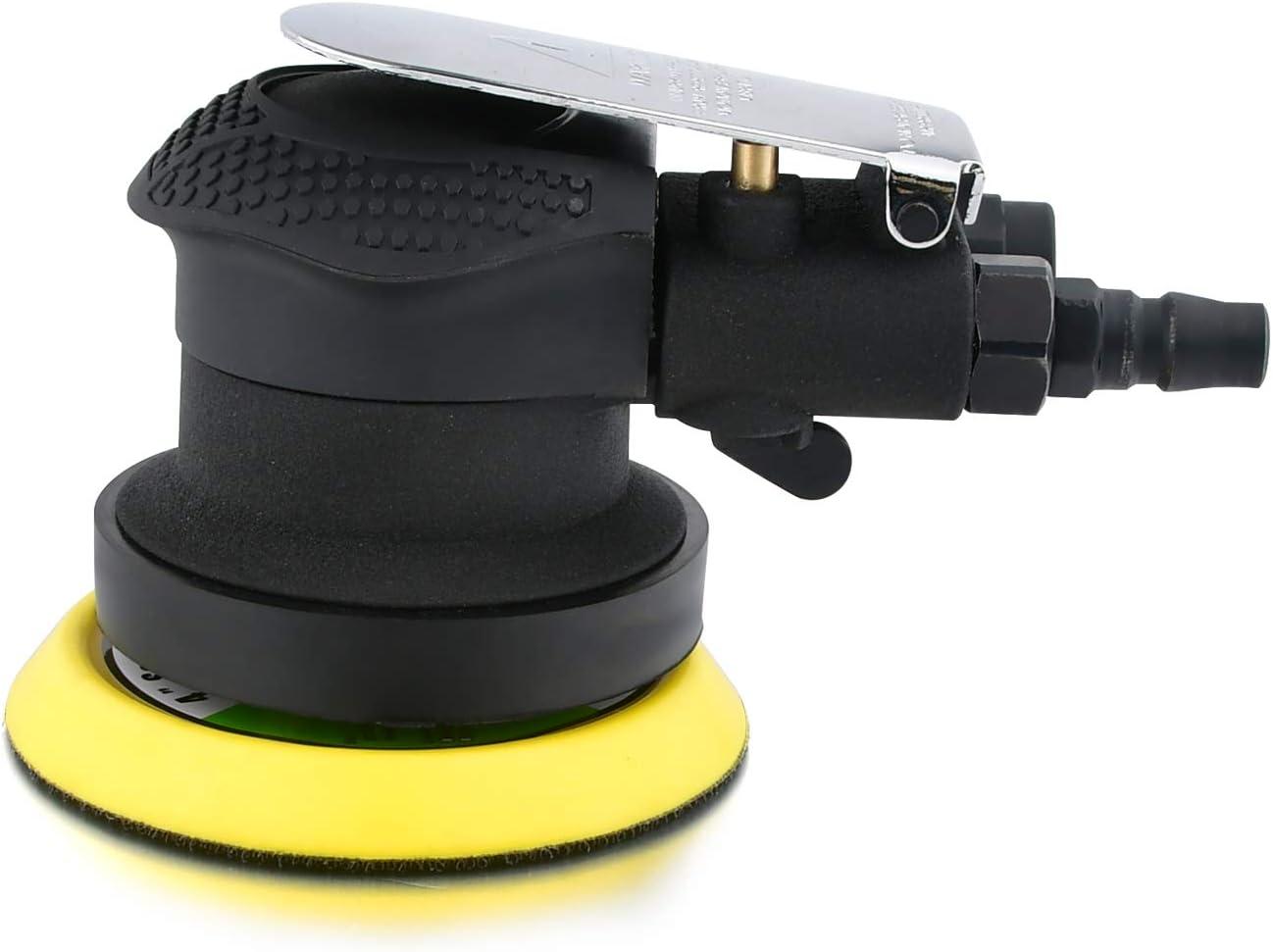 SHININGEYES Air Sander 4 Air Random Orbital Sander Round Polisher Pneumatic Hand Sanding Tool for Auto body Automotive