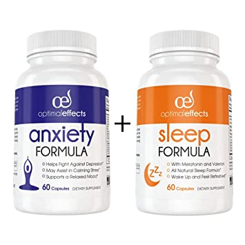 All Natural Around The Clock Anxiety and Stress Support Supplement by  Optimal Effects - Sleep