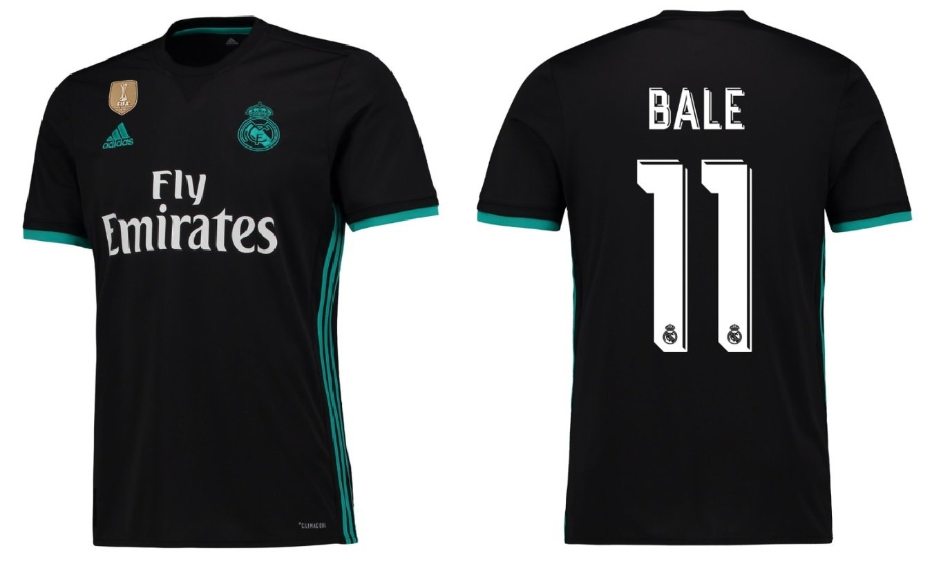 Trikot Kinder Real Madrid 2017-2018 Away WC - Bale 11
