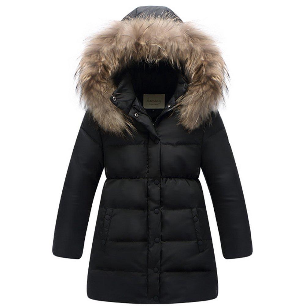Noir 150CM Ohmais Filles vêteHommest Hiver Down veste hommeteau épaissie veste de fille parka épaissie Trenchcoat blouson avec capuche