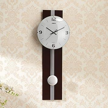 HAOLY Personalidad Creativo Arte Reloj de péndulo,Relojes,Relojes de Pared, Relojes de salón,Moderno Simple Pared Cuadros,Mute Artee Reloj-B ...