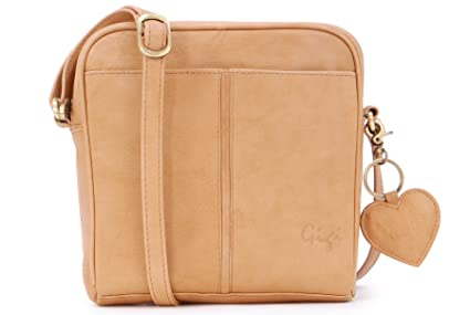 69554a0238 Gigi - Women's Small Leather Cross Body Handbag - Shoulder Bag with Long  Adjustable Strap -
