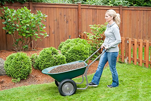 Marathon Dual-Wheel Residential Yard Rover Wheelbarrow and Yard Cart - Green by Marathon Industries (Image #1)