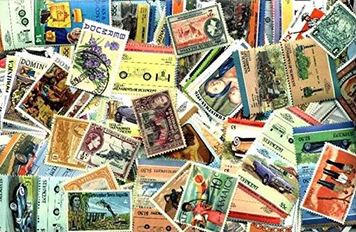 West Indies Collection (British West Indies Stamp Collection - 500 Different Stamps)