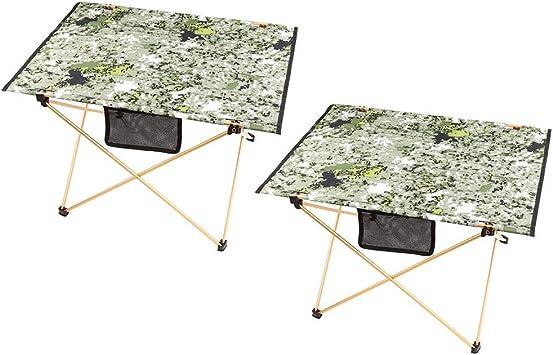 Mesa compacta Juego de Mesa Plegable para Camping Picnic Camp ...