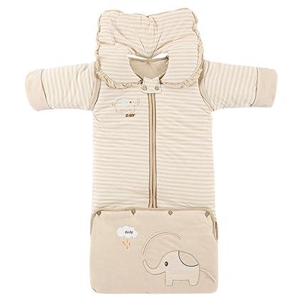 Eastlion invierno cálido 0 – 5 años bebé saco de dormir manga larga (mangas desmontables