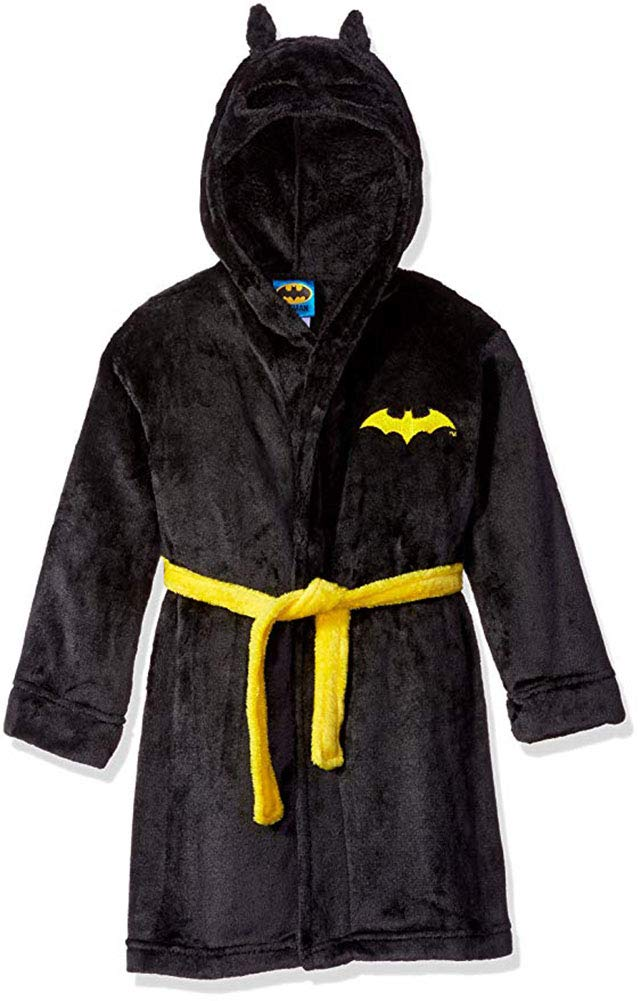 DC Comics Toddler Boys' Batman Hooded Robe, Black, 5T