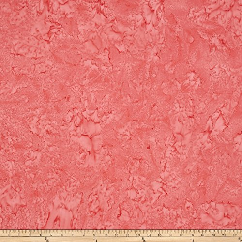 Anthology Batiks Lava Solid Coral Fabric by The -