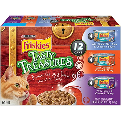 Friskies Purina Tasty Treasures Variety Pack Cat Food Cans