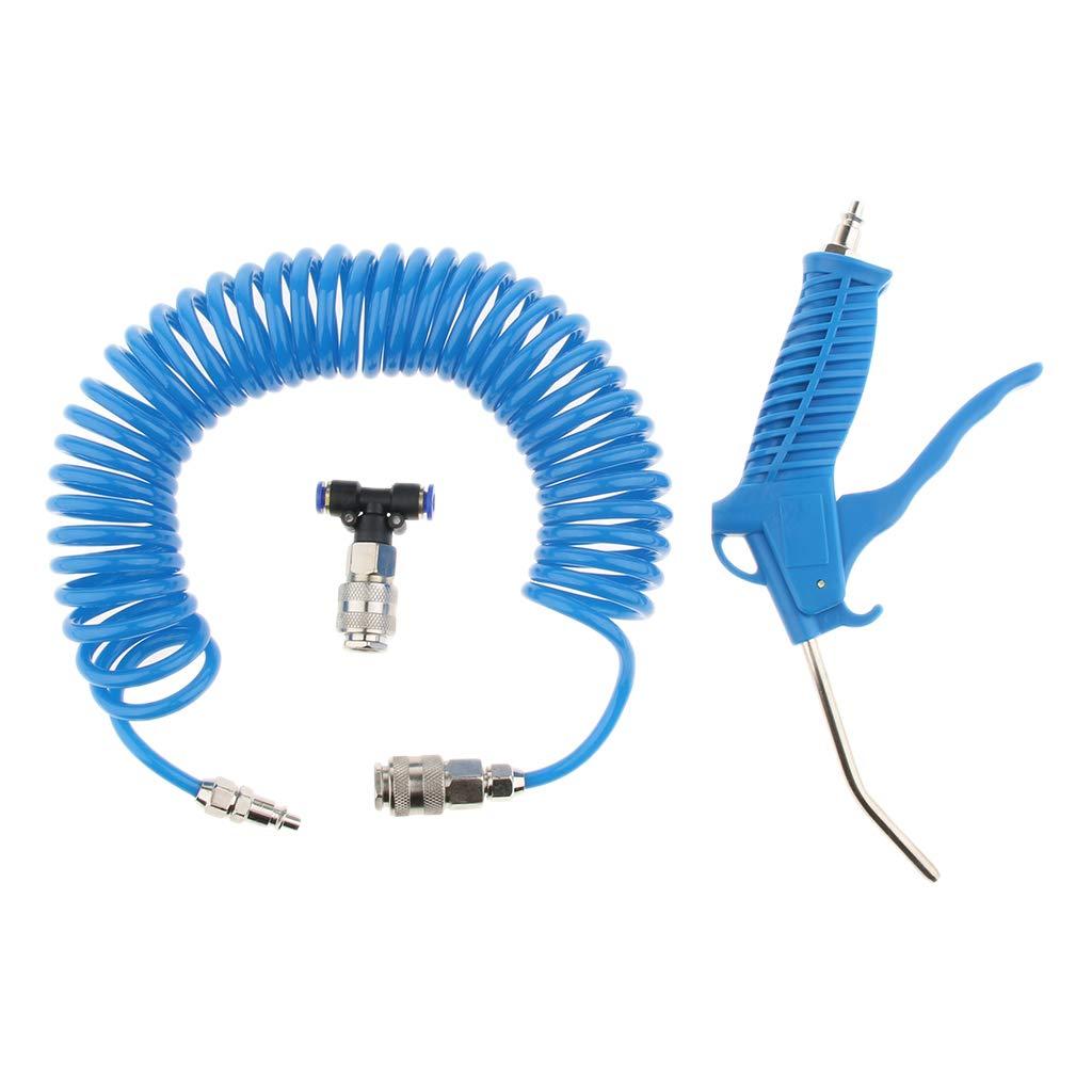 H HILABEE Soufflette /à Air Comprim/é Pistolet Soufflant pour Compresseur dAir Anti-Poussi/ère Buse /à Air 4 /× 6 mm bleu