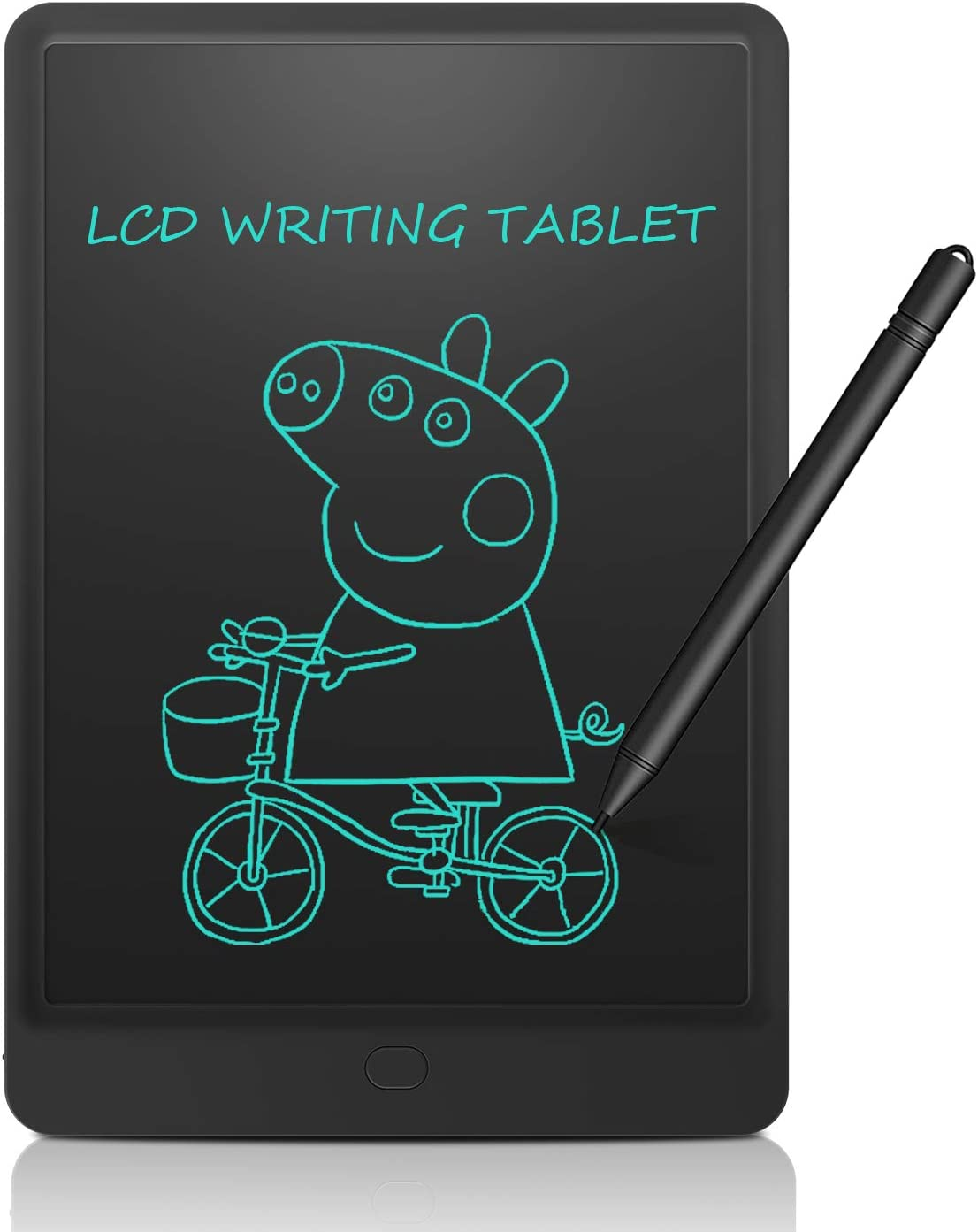 Color : Black, Size : 12 inches CVEUE CO LCD Writing Tablet 12 Inches LCD Tablet Childrens Graffiti Smart Painting Board LCD Office Board Portable Board LCD Writing Tablet Kids