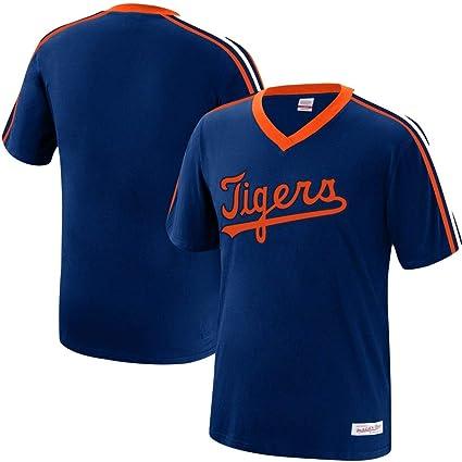 5e905f622 Mitchell & Ness Detroit Tigers MLB Men's Overtime Win Vintage V-Neck T-Shirt