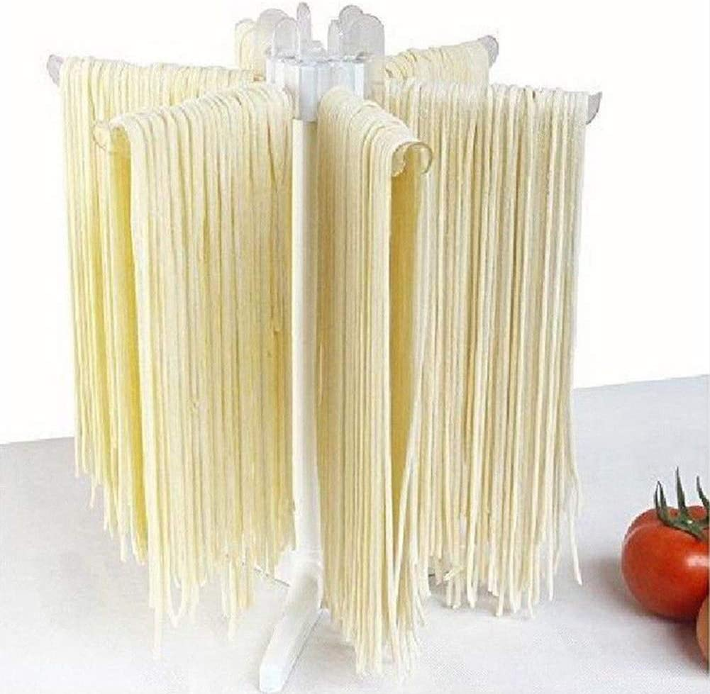Pasta Drying Rack Noodle Stand with 6 Bar Handles Collapsible Household Noodle Gryer Spaghetti Dryer Stand Hanging Rack for Home