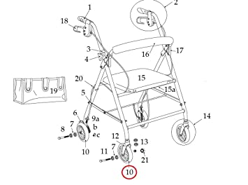 Amazon.com: Piezas de repuesto para andador con ruedas de ...