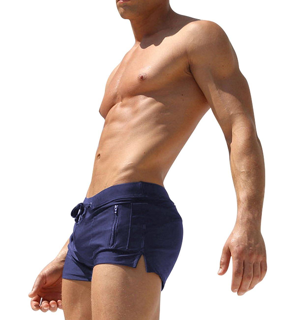 Feicuan Mens Comfort Swimming Trunk Swimwear Briefs L09