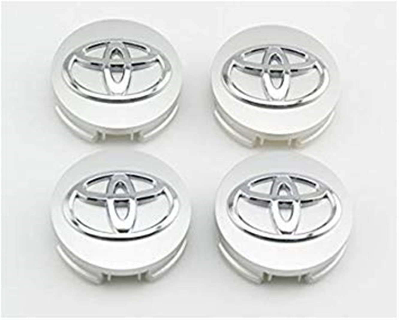 yongyong218 for Toyota 62/mm Outer Diameter Silver Wheel Centre Hub Caps Cover 4-pc Set