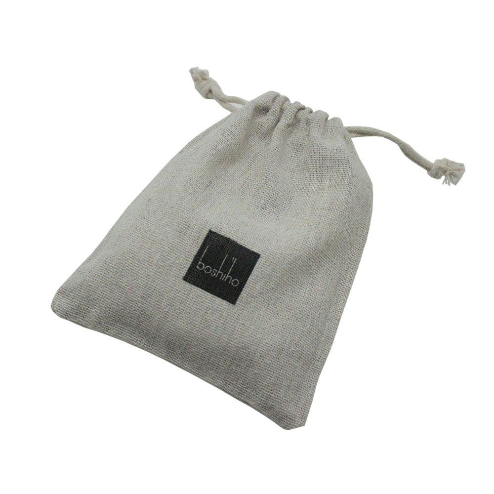 Boshiho porta badge identificativo in pelle con robusto cinturino in PU pelle con tracolla in pelle stile verticale