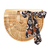 Bamboo Handbag Handmade Clutch Large Tote Bag Womens Summer Beach Bag