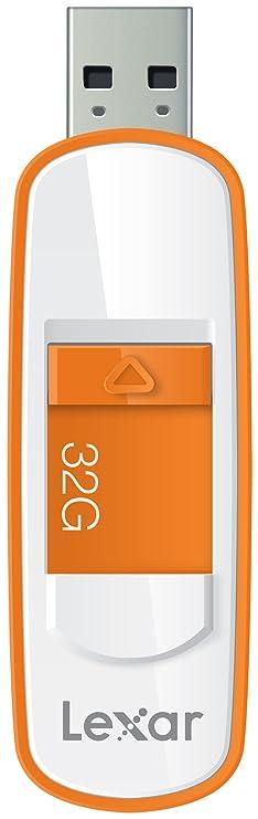 Lexar S75 32GB USB 3.0 JumpDrive - LJDS75-32GABEU - Orange, Weiß