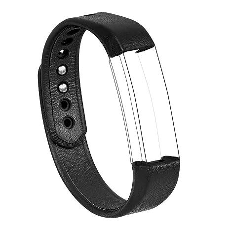 Banda for Fitbit Alta, wearlizer Reloj de Piel Real Bandas de ...