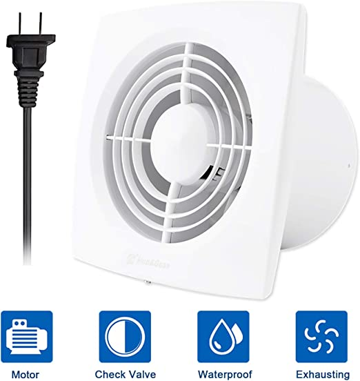 Hon&Guan 6 Inch Home Ventilation Fan Bathroom Garage Exhaust Fan Ceiling  and Wall Mount Exhaust Fan for Kitchen/Bathroom, Super Silent, Strong  Exhaust ...