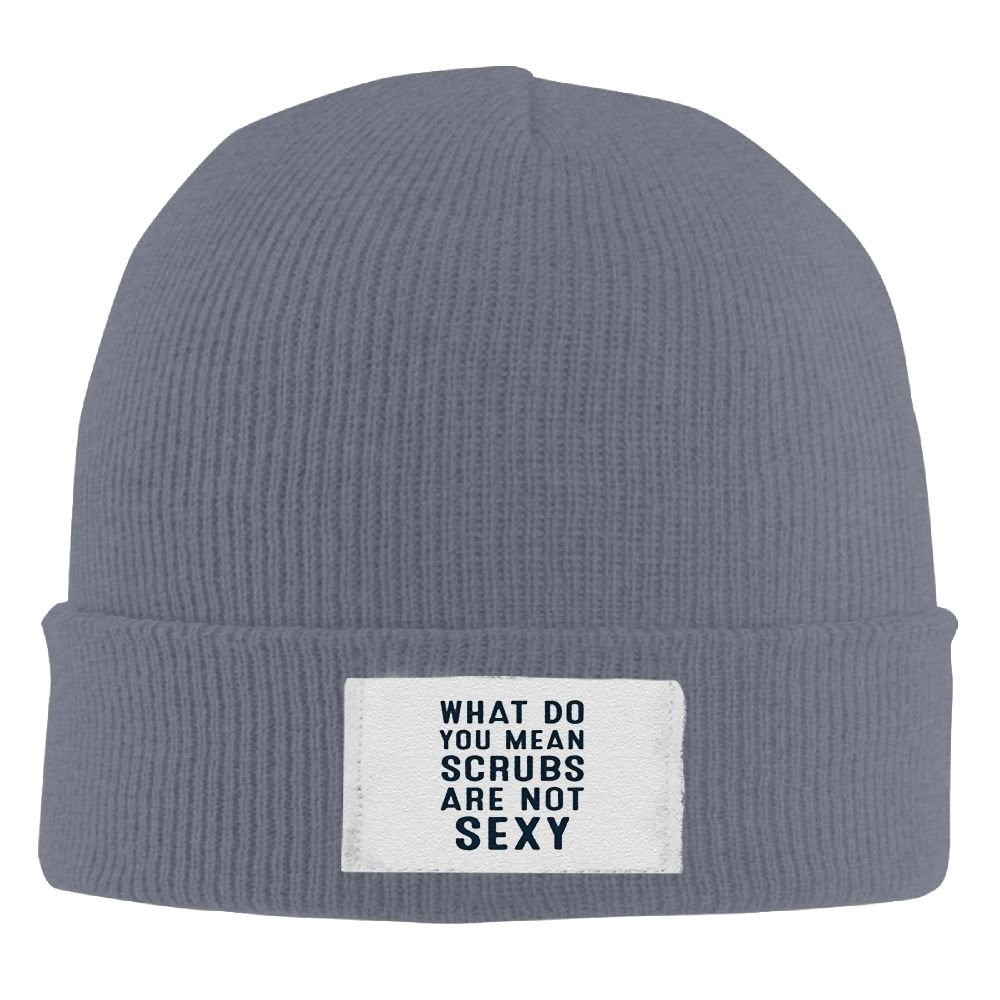 Amazon.com  What Do You Mean Scrubs are Not SexyKnitted Cap Trendy Warm  Chunky Soft Stretch Cable Knit Slouchy Beanie HatAsphalt  Clothing d4217838c58