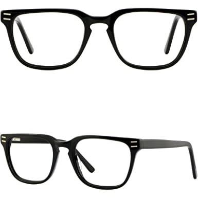 23bbd66f5c Image Unavailable. Image not available for. Color  Square Mens Womens  Plastic Frames Black Acetate Eyeglasses ...