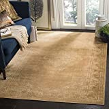 Cheap Safavieh Vintage Premium Collection VTG112-660 Transitional Oriental Warm Taupe Distressed Silky Viscose Area Rug (4′ x 5'7″)