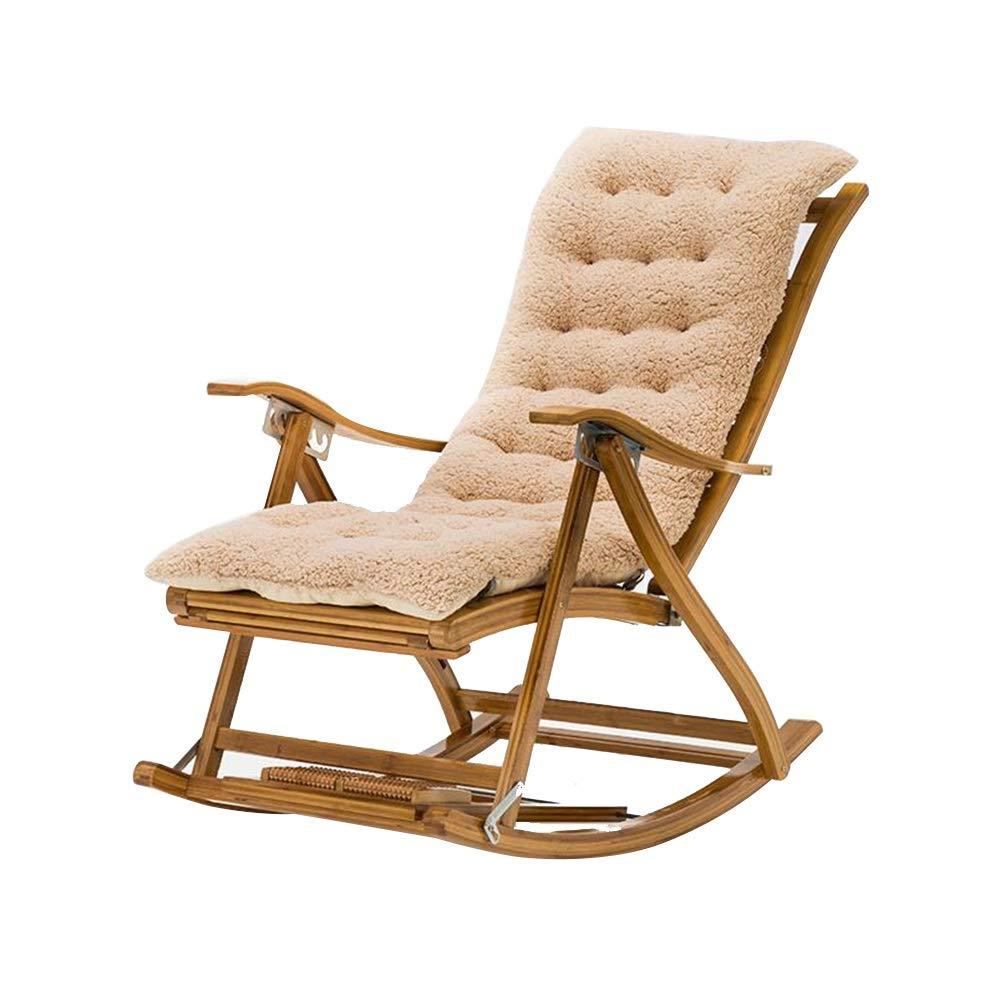 安楽椅子、携帯用大人の昼寝椅子折りたたみ式リクライニングサンラウンジャー付き引き込み式フットレストとフットマッサージボールパティオテラス用 (Color : Light coffee) B07T49HHC6 Light coffee