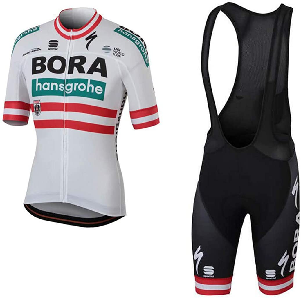 Men's Cycling Suit Quick-Dry 3D Gel Padded Breathable Outdoor Bicycle MTB Short Sleeve Riding Bib Shorts