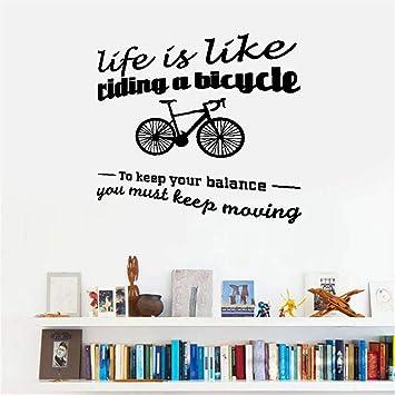 pegatinas de pared La vida es como andar en bicicleta, para ...